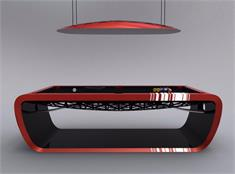Toulet Blacklight Luxury Pool Tables - Red