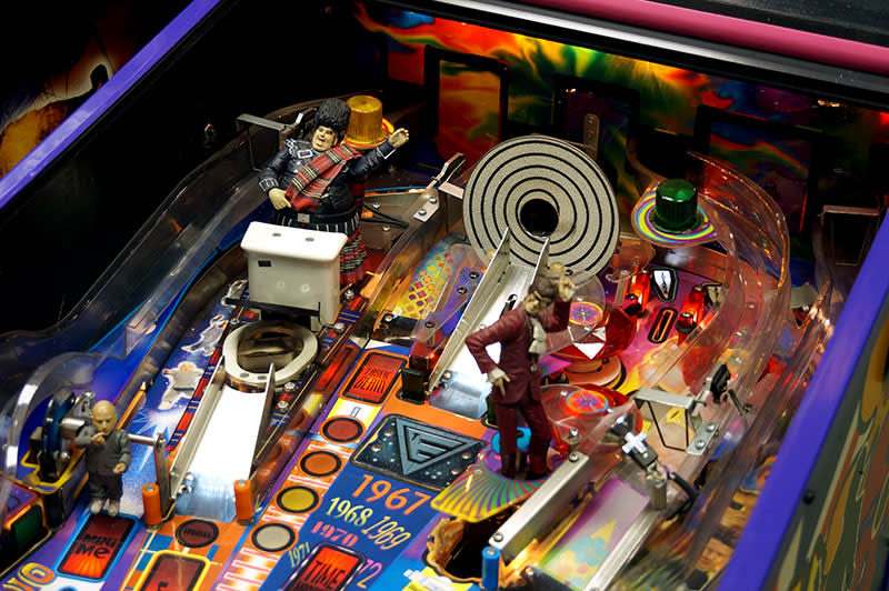 Austin Powers Pinball Machine - Upper Playfield