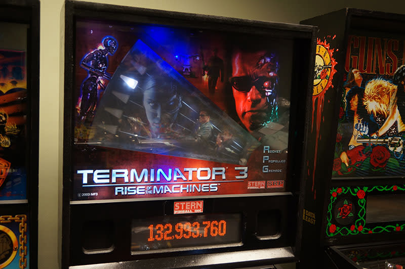Terminator 3 Pinball Machine - Backbox and RPG
