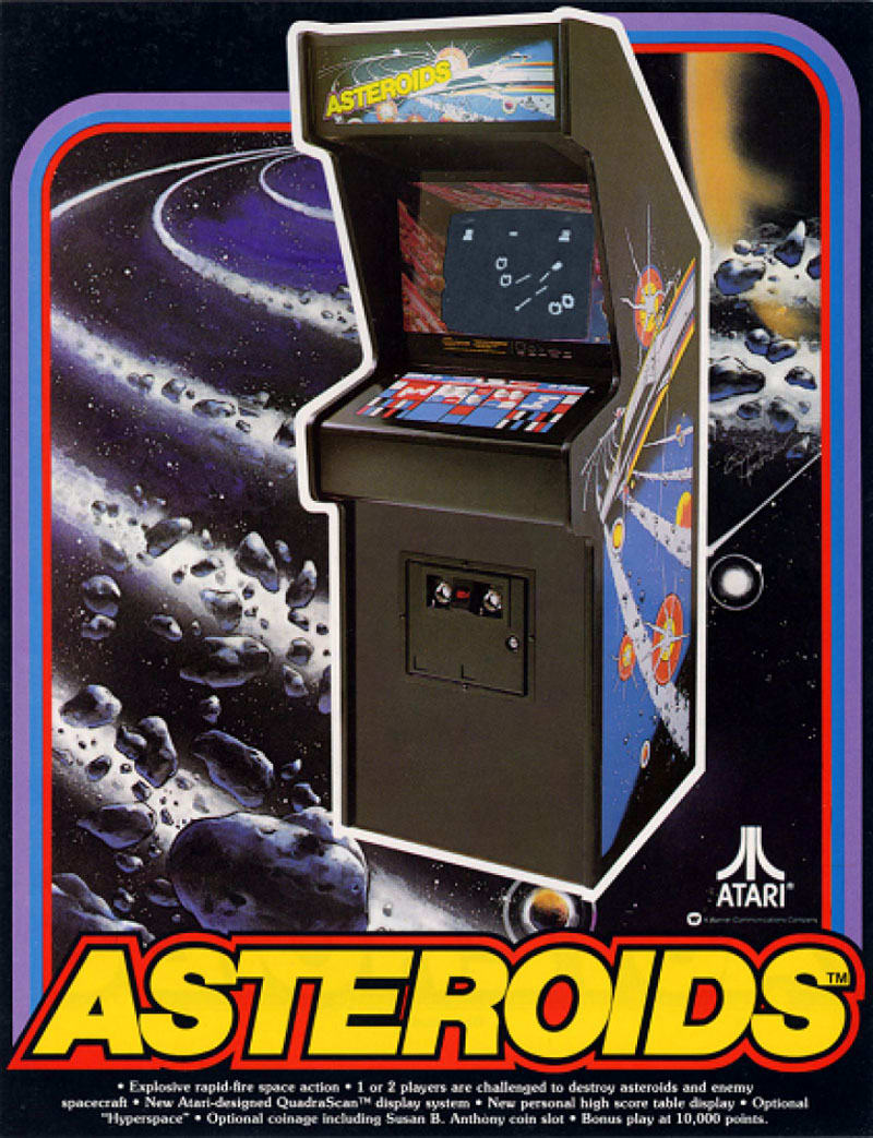 Asteroids Vintage Arcade Machine - Flyer