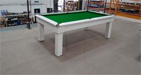 Signature Oxford Pool Dining Table: White - 7ft: Warehouse Clearance