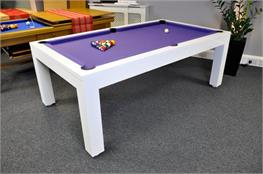 Signature Hawkes Pool Table - High Gloss White: 7ft