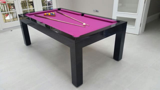Signature Hawkes Pool Dining Table High Gloss Black 7ft