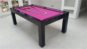 Signature Hawkes Pool Dining Table - High Gloss Black: 6ft, 7ft
