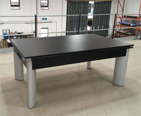 Fusion Pool Dining Table: Black - 6ft - Warehouse Clearance