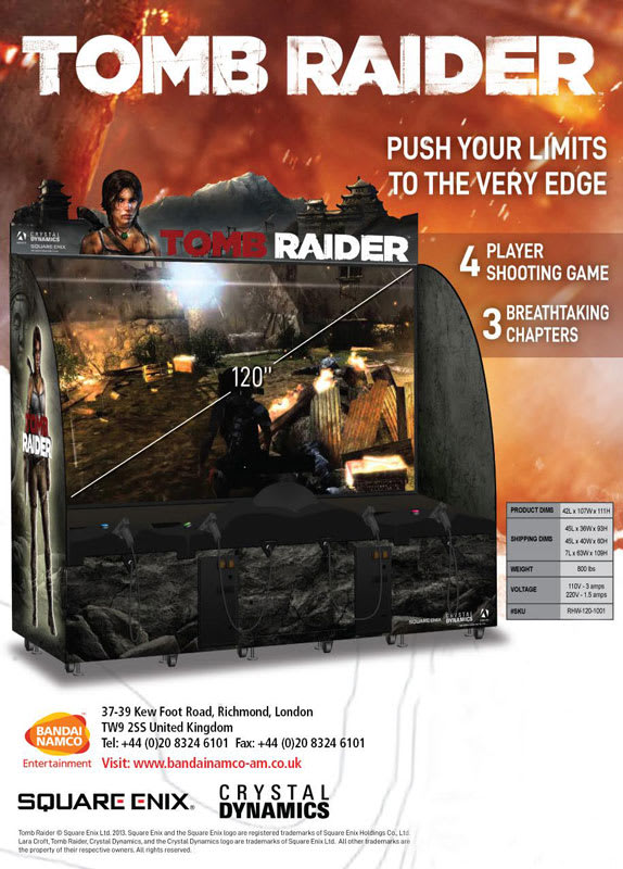 Tomb Raider Arcade Machine - Flyer