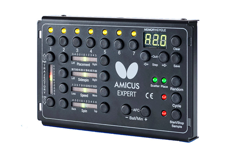 Amicus Expert Table Tennis Robot - Control Panel