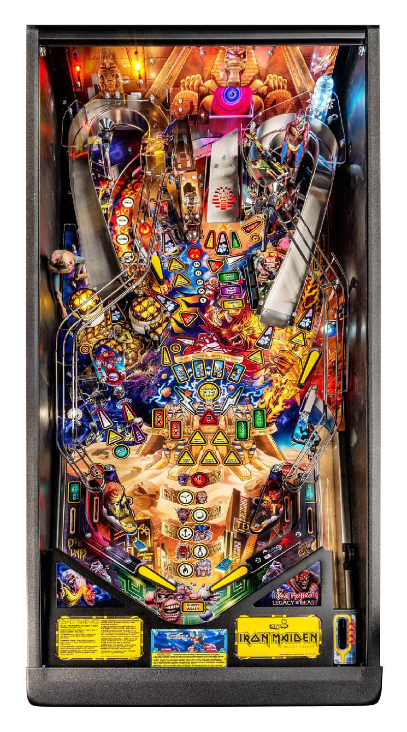 Iron Maiden Premium Pinball Machine - Playfield Plan