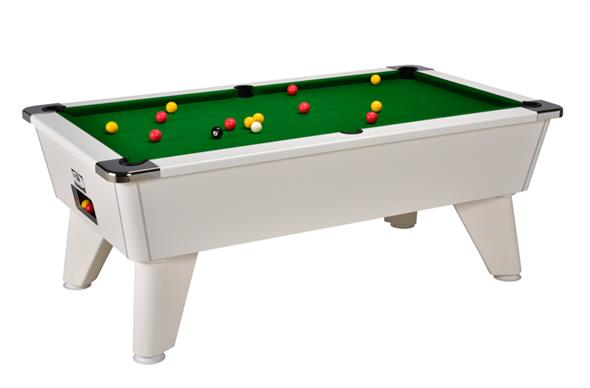 Signature Tournament Pool Table: White - 6ft, 7ft