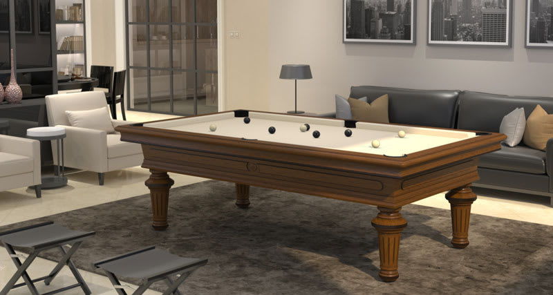 Toulet Empereur Luxe Pool Table - Room Shot
