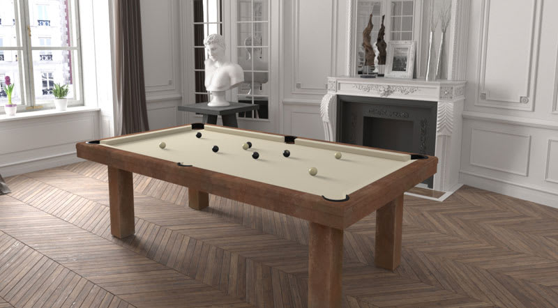 Toulet Factory Pool Table - Room Shot