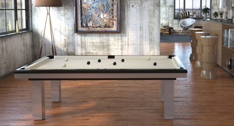 Toulet Full Loft Pool Table - Room Shot