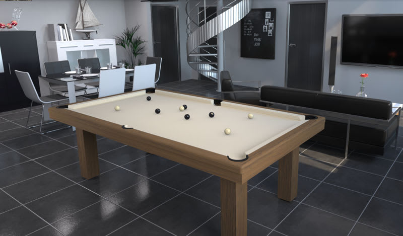 Toulet Outdoor Teck Pool Table - Room Shot