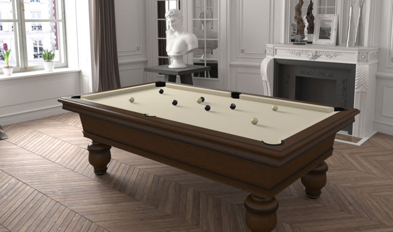 Toulet Renaissance Pool Table - Room Shot