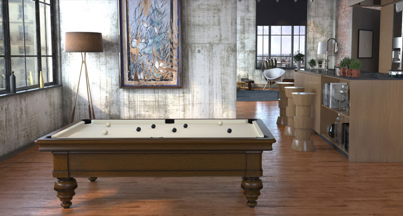 Toulet Rochevilaine Pool Table - Room Shot