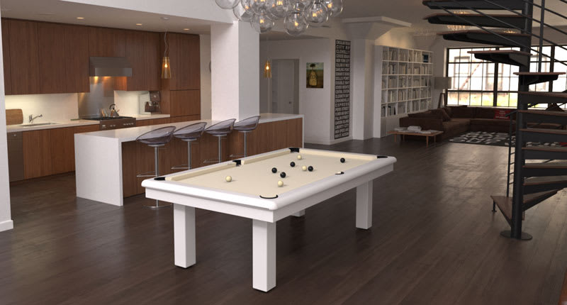 Toulet Roundy Pool Table - Room Shot