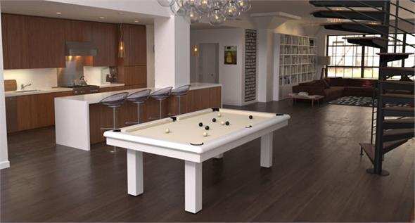 Toulet Roundy Outdoor Pool Table - 6ft, 7ft, 8ft, 9ft, 10ft, 12ft