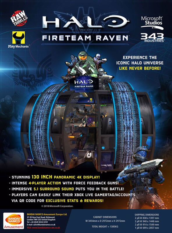 Halo: Fireteam Raven Arcade Machine Flyer