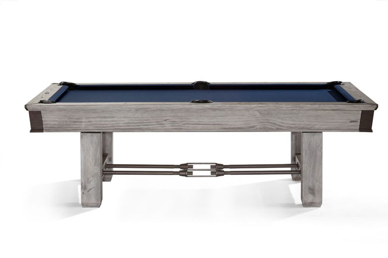Brunswick Canton Pool Table - Rustic Grey - Side