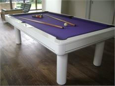 Longoni Elegant White Pool Table  - 7ft, 8ft