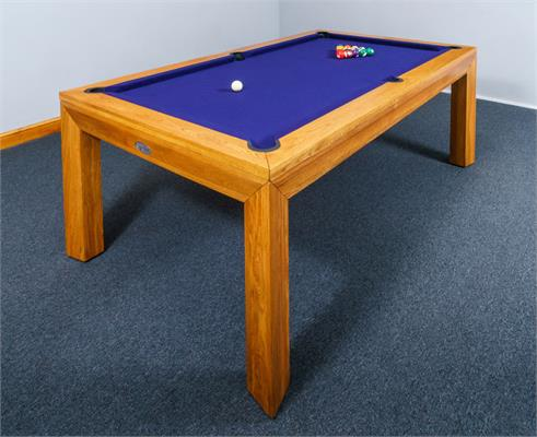 Signature Anderson Oak Pool Dining Table: 7ft