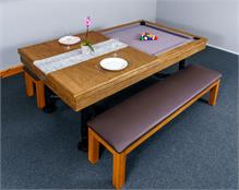 Signature McQueen Oak Pool Dining Table: 7ft