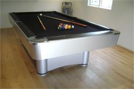 Longoni New Silver Las Vegas Pool Table  - 8ft, 9ft