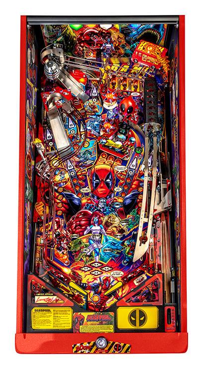 Deadpool LE Pinball Machine - Playfield Plan