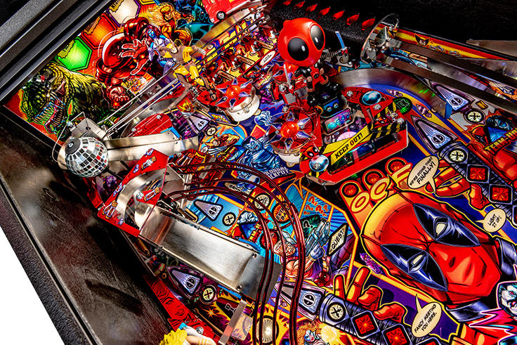 Deadpool Premium Pinball Machine - Upper Playfield