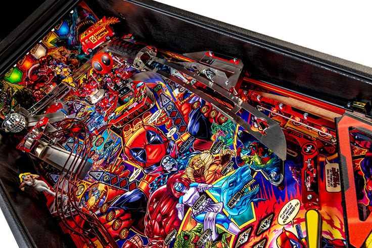 Deadpool Premium Pinball Machine - Katana Ramp
