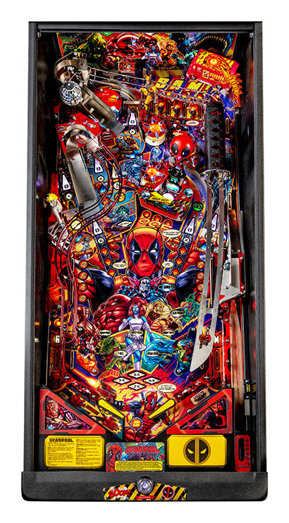 Deadpool Premium Pinball Machine - Playfield Plan