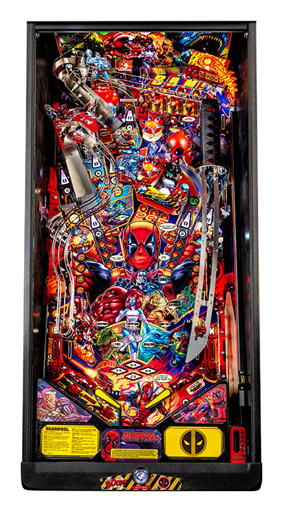 Deadpool Pro Pinball Machine - Playfield Plan