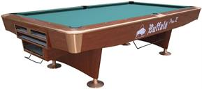 Buffalo Pro II American Pool Table (Brown) - 9ft