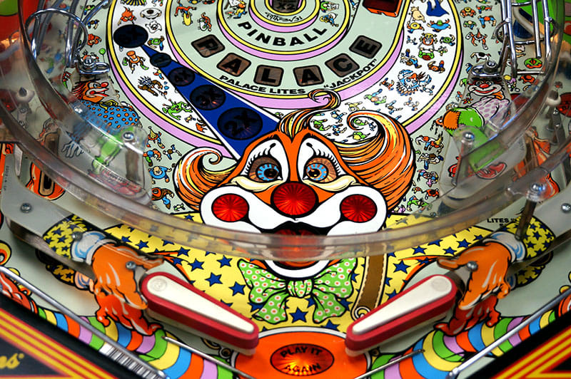 Hurricane Pinball Machine - Clown Artwork