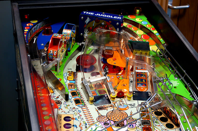 Hurricane Pinball Machine - Upper Playfield