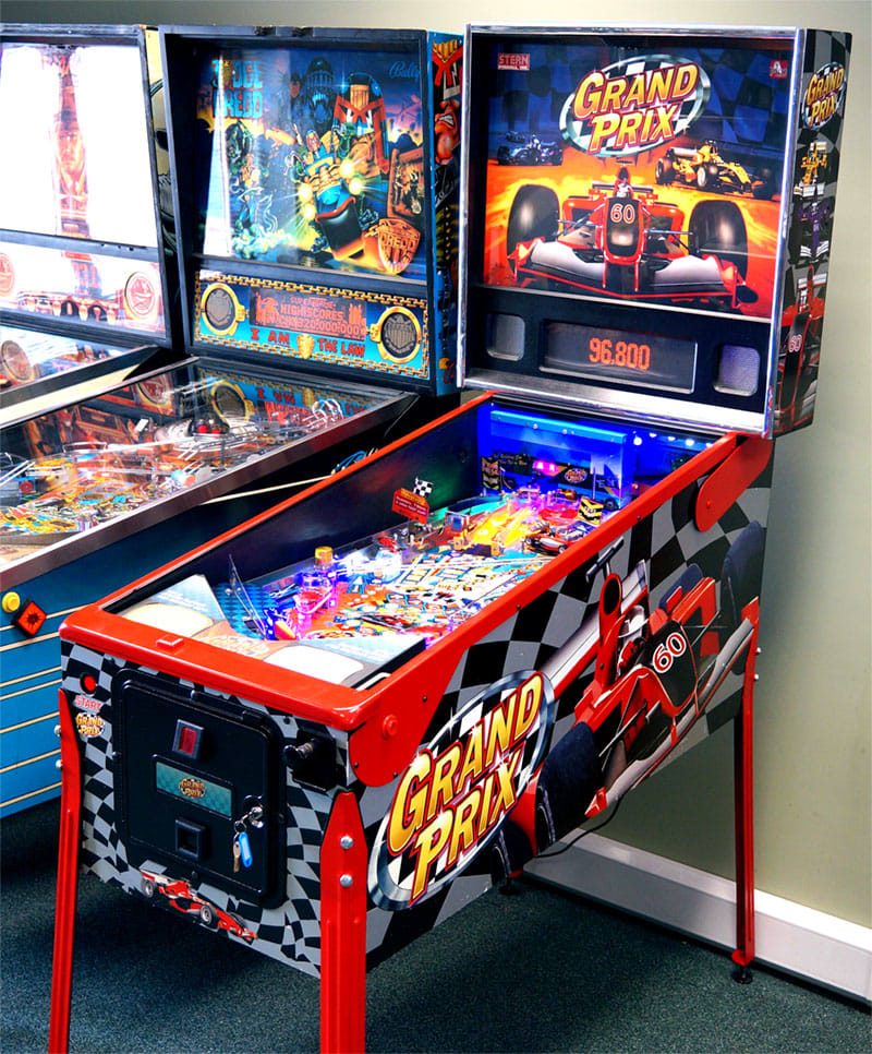 Grand Prix Pinball Machine - In Showroom
