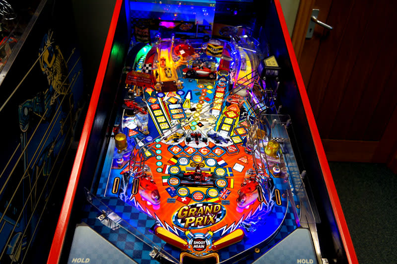 Grand Prix Pinball Machine - Playfield