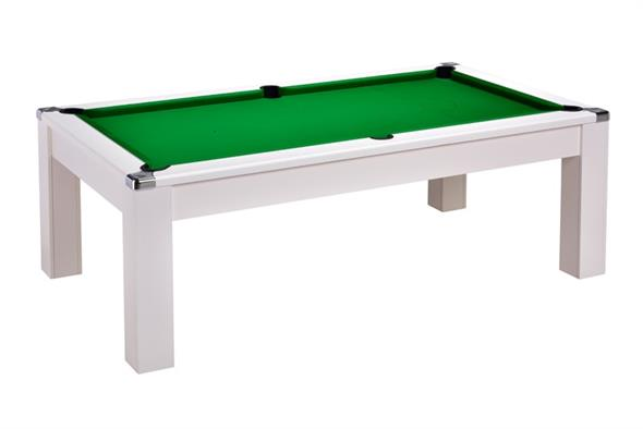 Signature Warwick Pool Dining Table: White - 6ft, 7ft