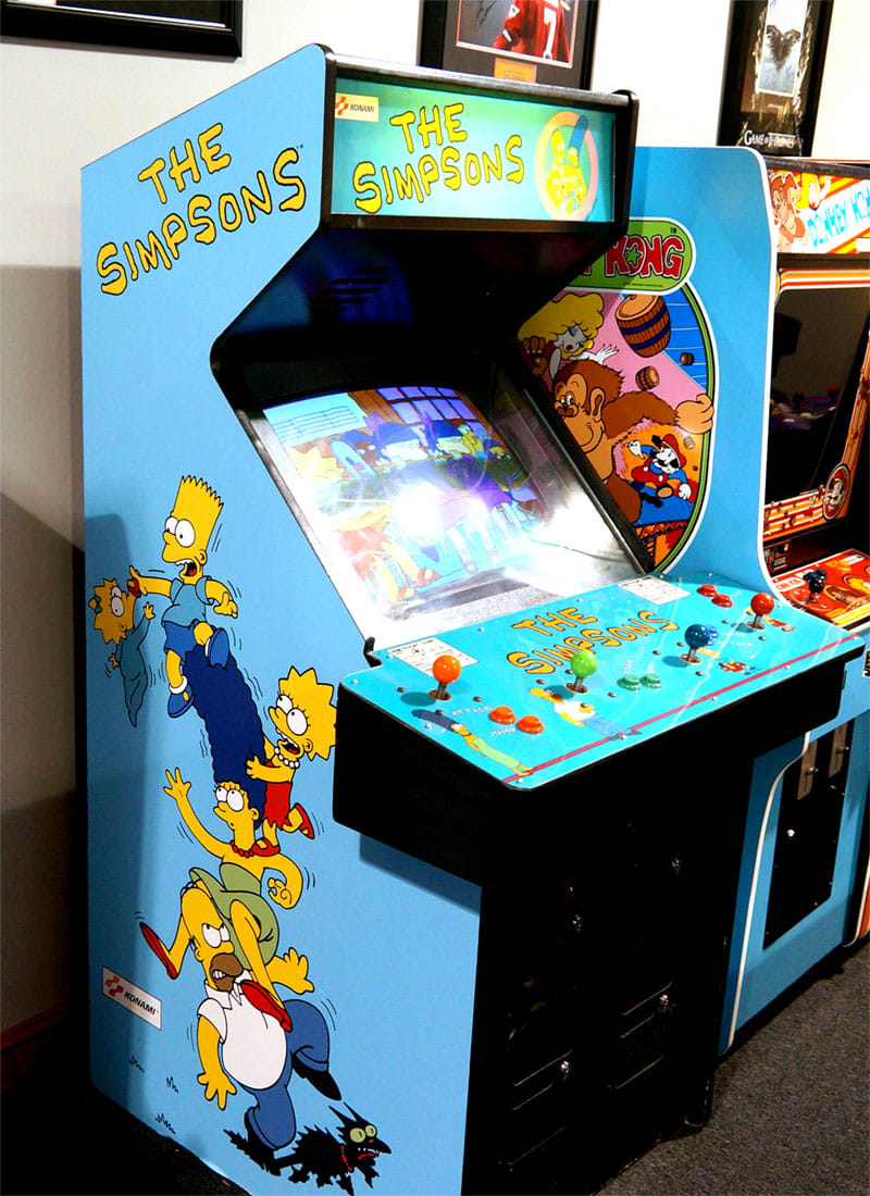 The Simpsons Arcade Machine - In Showroom