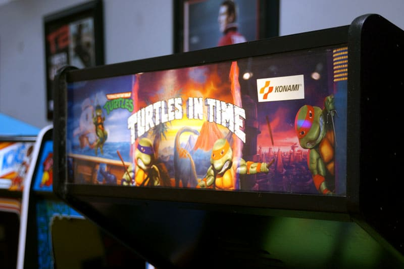 Teenage Mutant Ninja Turtles: Turtles In Time Arcade Machine - Marquee