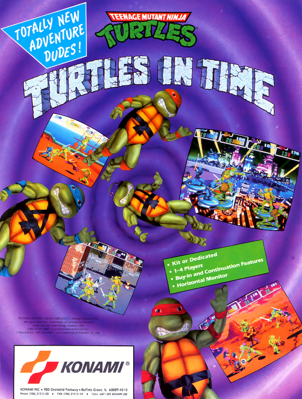 Turtles In Time Flyer