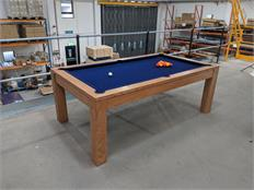 Signature Chester Oak Pool Dining Table 7ft - Solid Oak: Warehouse Clearance