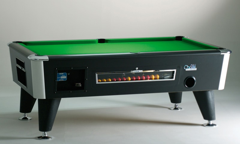 An image of Sam Infinity Coin-Op Pool Table - 7ft