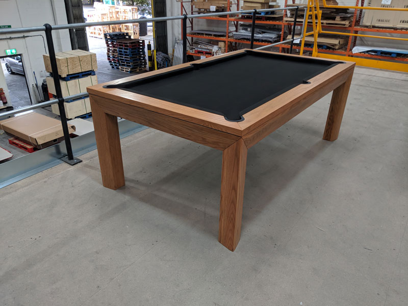 Signature Anderson Oak Pool Dining Table Ft Warehouse Clearance - Pool dining table 7ft