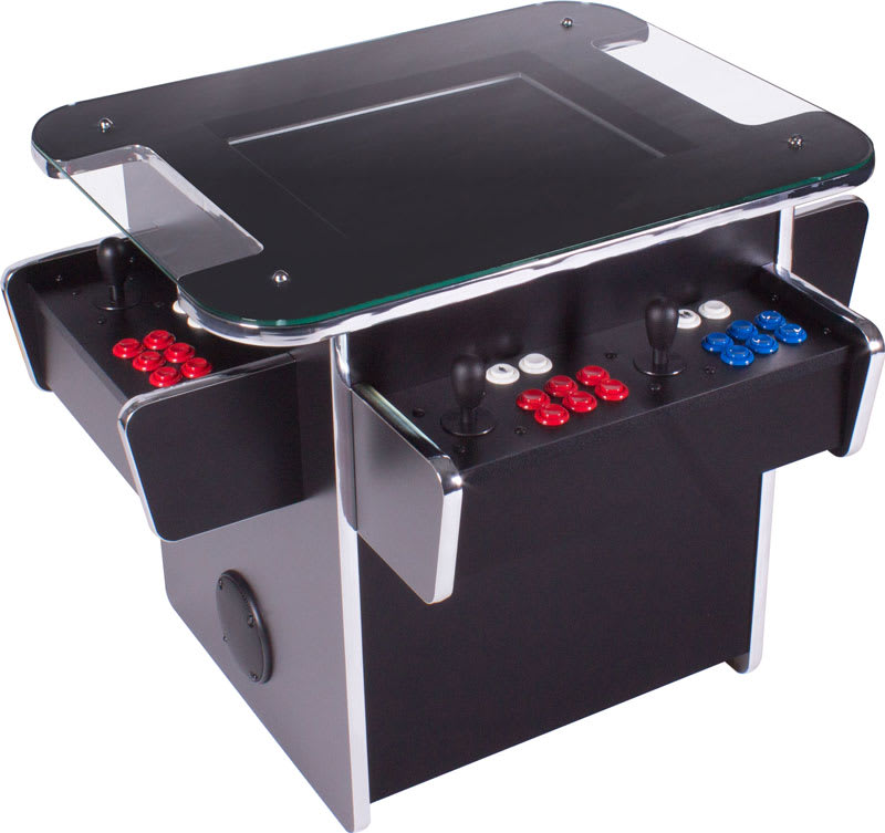 An image of GamePro Invader Infinity 3-Sided Cocktail Arcade Machine |