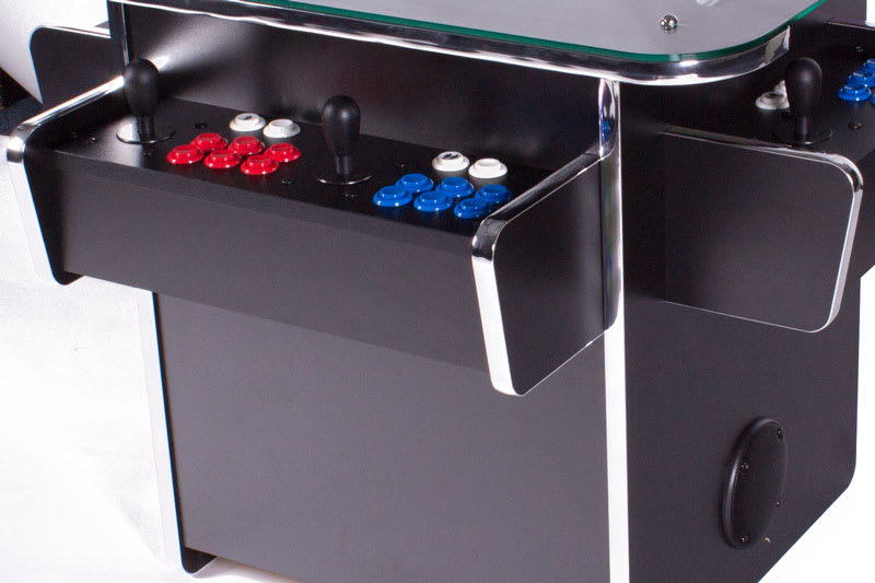 GamePro Invader 3-Sided Cocktail Arcade Machine - Black - Controls 2