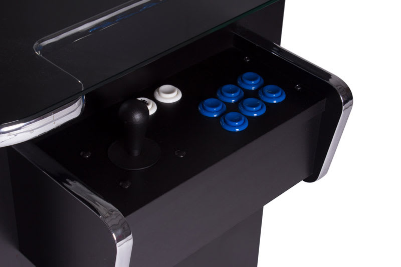 GamePro Invader Cocktail Arcade Machine - Black - Controls 1