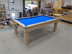 Windsor Pool Dining Table: Light Oak - 7ft - Warehouse Clearance