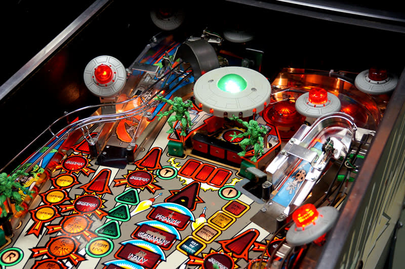 Attack From Mars Pinball Machine - Upper Playfield