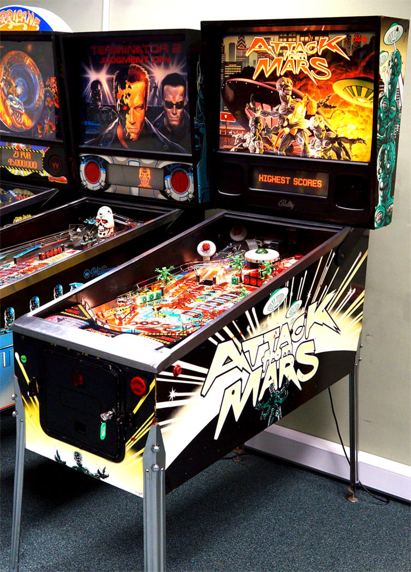 Attack from Mars pinball Coin door custom decal